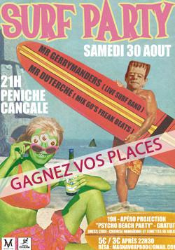 Affiche surf party